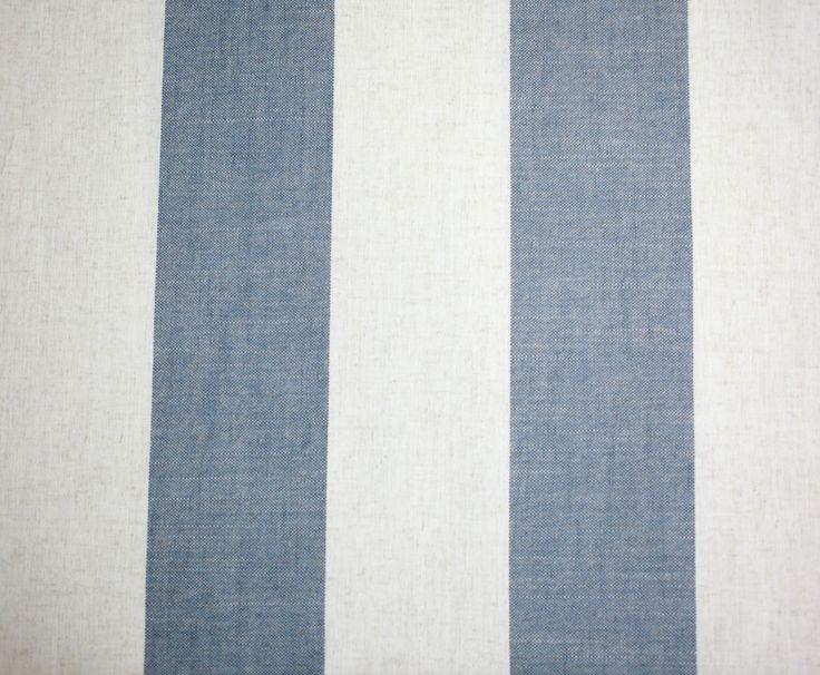 Wide Stripe Coastal linen www.constantiafabrics.co.za