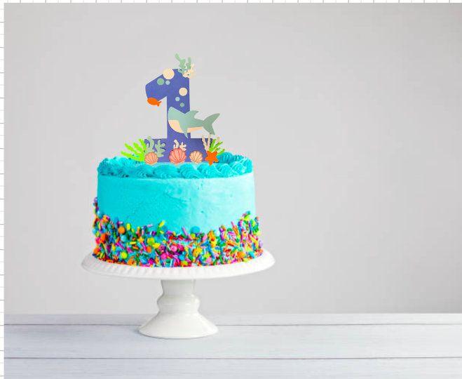 Baby shark theme cake topper, cake toppers, underwater ...