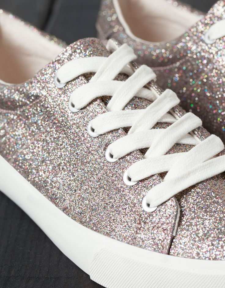 BSK multicolour shimmer sneakers - Shoes - Bershka United Kingdom