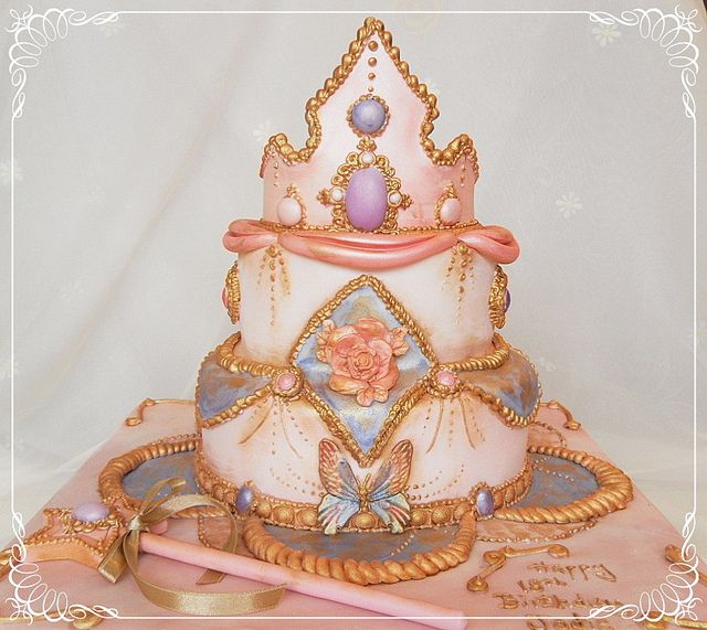 Princess tiara cake by deborah hwang, via Flickr