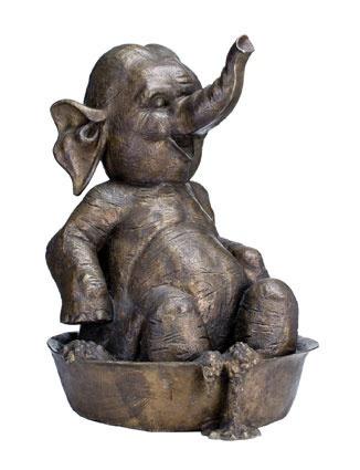 © David Bromley ~ Elephant Bubble Bath ~ 2006 bronze at Tim Olsen Gallery Sydney Australia
