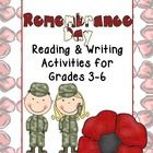 Use this reading and writing mini bundle to check for your student reading comprehension while exploring topics associated with Remembrance Day.   ...
