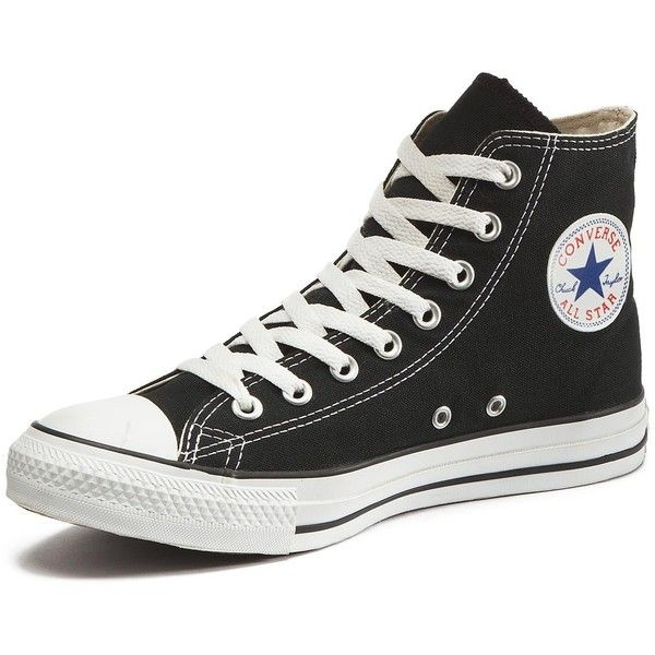 Converse Chuck Taylor All Stars Hi Top Plimsolls ($71) ❤ liked on Polyvore featuring shoes, sneakers, converse, perforated sneakers, hi tops, vintage shoes, converse trainers and converse sneakers