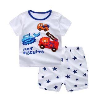 ซื้อเลย  Summer Baby Boy Girl Clothing Sets Short Top + Pants 2pcs/setCartoon Sport Suit Baby Clothing Set Newborn Infant Clothing - Car- intl  ราคาเพียง  200 บาท  เท่านั้น คุณสมบัติ มีดังนี้ Number of packages: twopieces Suitable for age: infants andyoung children (1 to 3 years old, 80 ~ 100cm) For the season: Summer Applicable to the scene: birthday,daily 100% cotton soft and comfortable