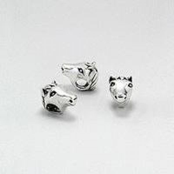 Sterling Silver Horsehead Charm - Pandora Compatible - Sterling Silver - Jewellery