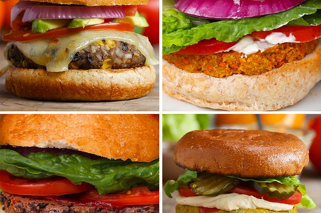 8 Amazing Veggie Burgers (can be easily modified for vegan)