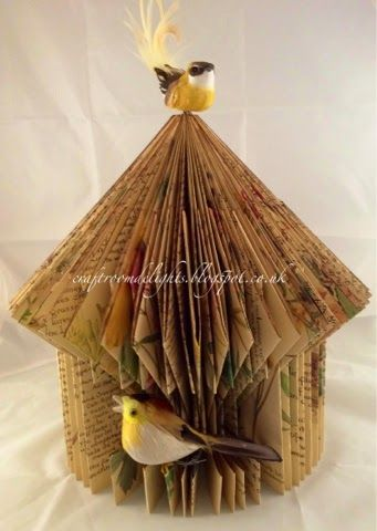 Craft Room Delights by Samantha Wade: Edwardian Diary book bird house--paper folding