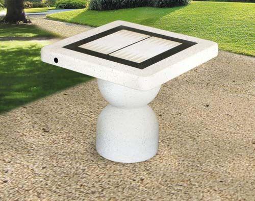 Concrete Outdoor Backgammon Table