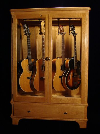 Guitar Display Case Cabinets