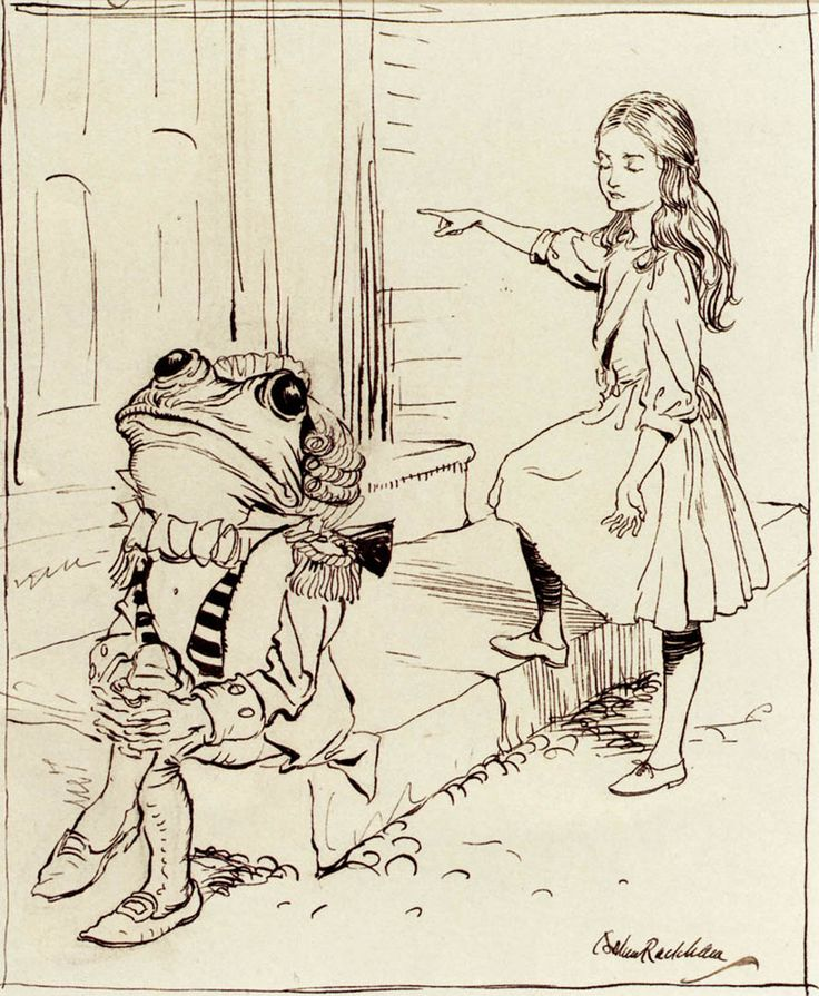 Arthur Rackham Alice And The Frog Footman