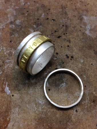 Making a spinning ring - Tutorial: anello con fascetta