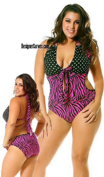 Cool Designer Plus Size zebra swimsuit summer bathingsuit cruise beach picture #plus-size #swimsuits
