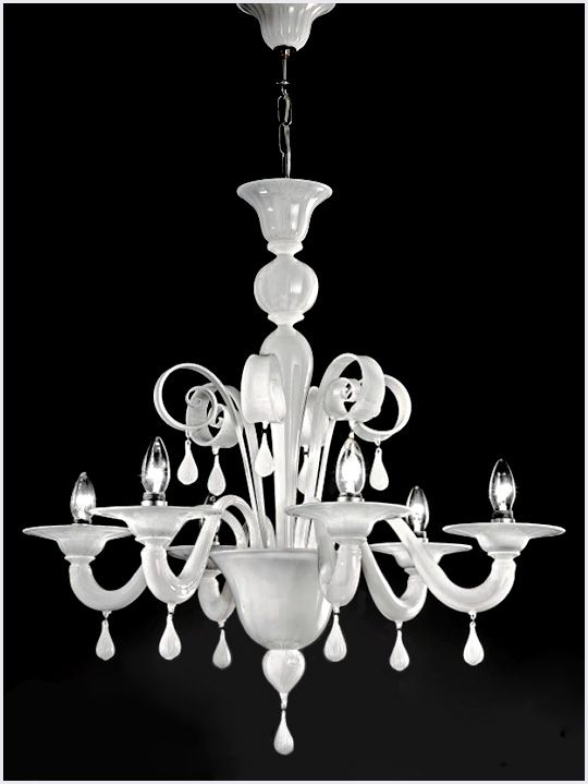 murano glass chandelier c911l6 only in aqua glass not white - Blown Glass Chandelier