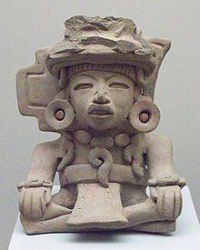 Cultura zapoteca. Urna funeraria de cerámica pintada (fase monte Alban III) - Wikipedia, la enciclopedia libre