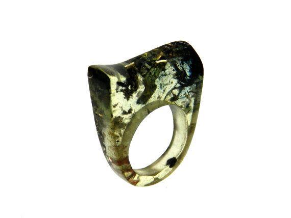 cocktail ring  resin handmade statement ring  ring by ligiarocha, $85.00