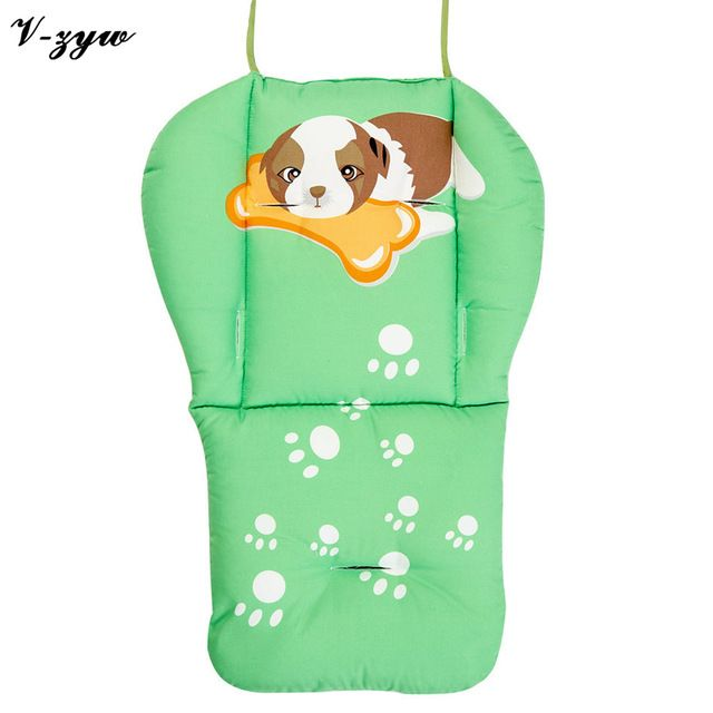 Cartoon Cotton Stroller Liner Seat Cushion Pram Pad Baby Chair Car Seat Accessories  on AliExpress