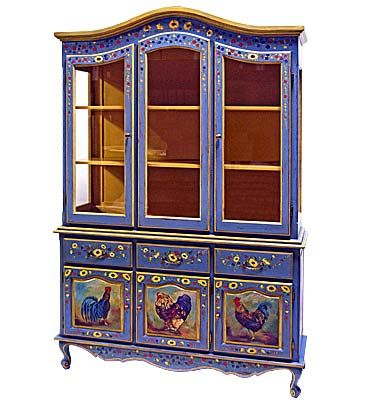 Hand Painted Furniture - Piece of the Week - French Provincial China Cabinet