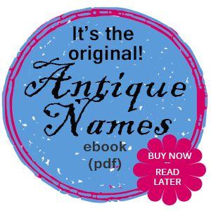 Antique Baby Names Book