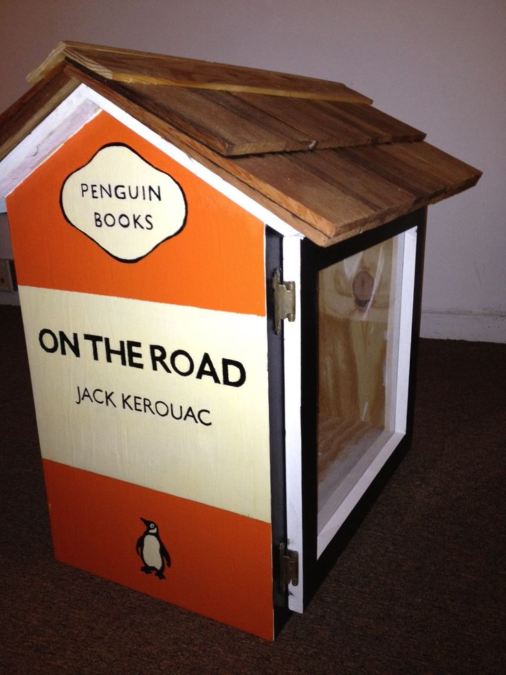 Penguin/On the Road/Jack Kerouac Little Free Library - auctioned off at this year's Decatur Book Festival