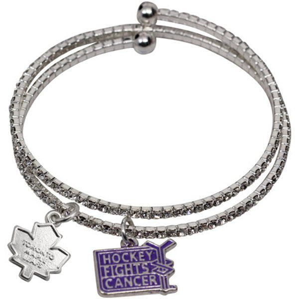Hockey Fights Cancer Toronto Maple Leafs bracelet