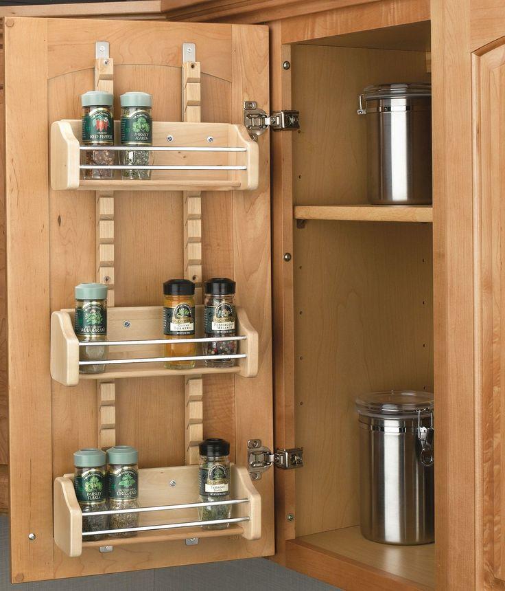Adjustable Door Mount Spice Rack | Products | Pinterest | Door ...