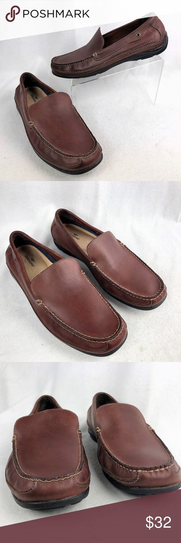 Dockers Leather Slip On Loafers Dockers Milled Leather