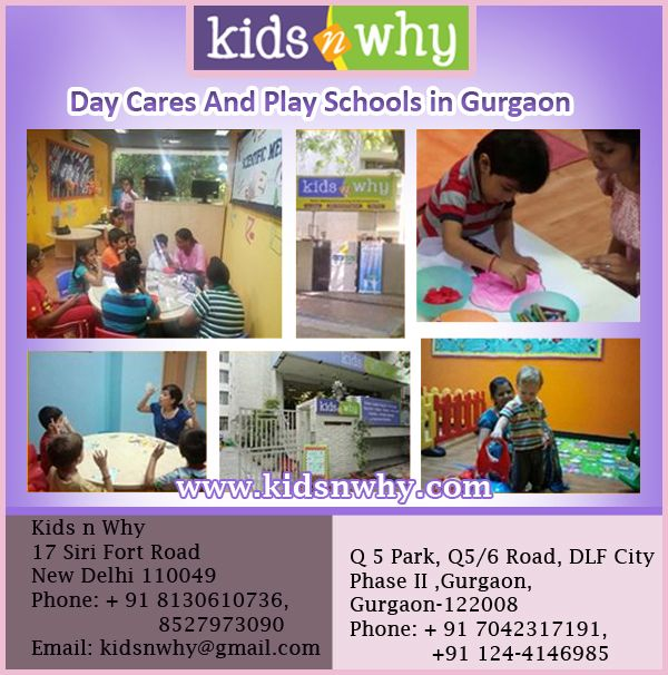 Day cares and play schools in gurgaon
