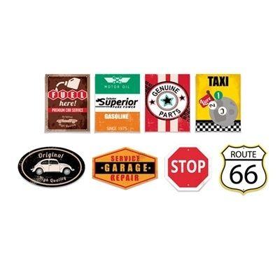 Kit Cartaz para Decoração Garage Route 66 8 Cromus