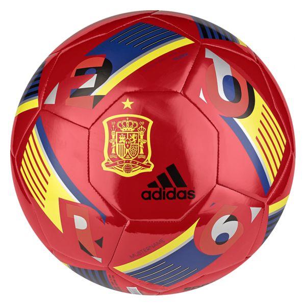 Balón selección española fútbol eurocopa 2016 en rojo