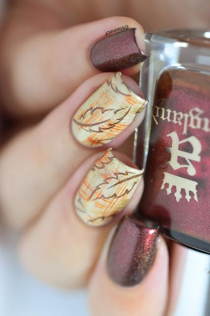 Nailstorming - Automne - Autumn - fall - nailart - stamping - dry brush - A…