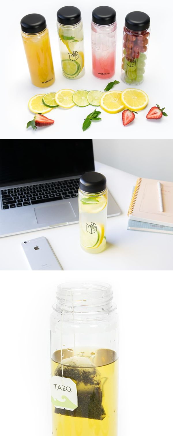 It's simple and so wonderful! The Simple Water Bottle is a versatile container to take wherever you go! The clean look, bottle transparency, and an adorable MochiBox artwork really make this bottle attractive!