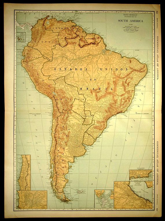 South America Map EXTRA LARGE South America Railroad Map Art | Map ...