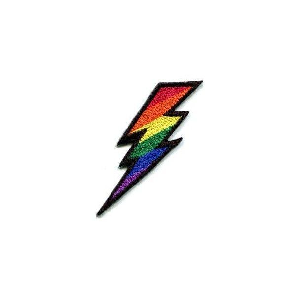 Lightning Bolt Gay Lesbian Pride Rainbow Retro LGBT Appliques Hat Cap... (20 BRL) ❤ liked on Polyvore featuring accessories, hats, patch cap, retro caps, embroidery hats, patch hat and embroidered caps