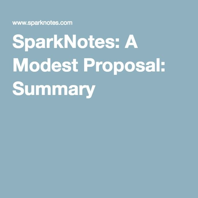 a modest proposal response Free essay: desperate times often call for desperate measures, and proposals of desperate measures are often met with swift criticism if they are found to be.