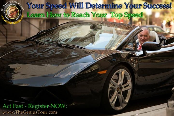 """Your speed will determine your success"" Meir Ezra"