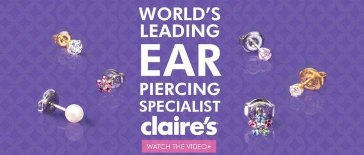 Claire's Ear Piercing | Free Everyday With Purchase of A Starter Kit  | Claire's | @giftryapp