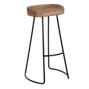 Industrial Oak Bar Stool/$150.00