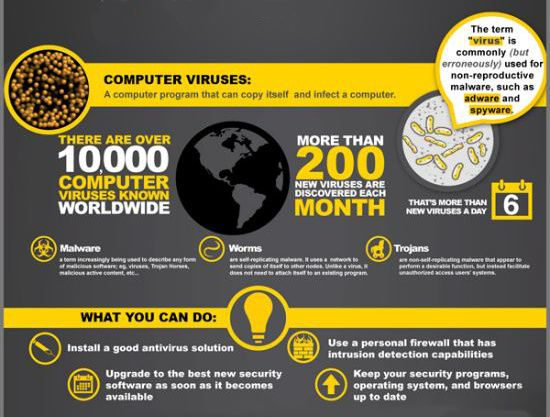 Virus Attack - Infographic