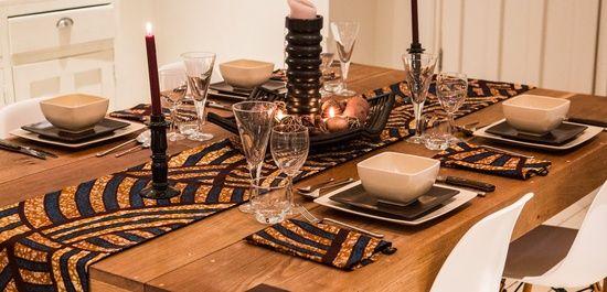 dressage de table inspiration africaine d coration africaine pinterest inspiration maison. Black Bedroom Furniture Sets. Home Design Ideas
