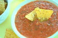 Salsa de Mesa, or Table Salsa, is a basic tomato salsa I learned early on. It's simply tomatoes, chile serrano or jalapeño, onion, garlic and salt.