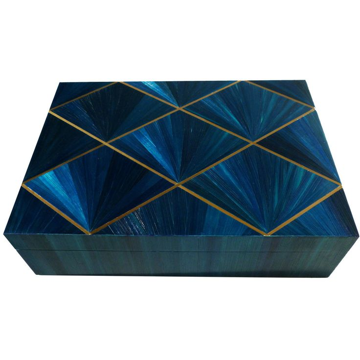 Straw Marquetry Box    From a unique collection of antique and modern boxes at https://www.1stdibs.com/furniture/more-furniture-collectibles/boxes/