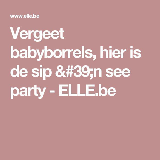 Vergeet babyborrels, hier is de sip 'n see party - ELLE.be
