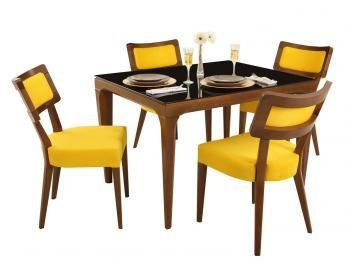 Conjunto de Mesa com 4 Cadeiras Raissa Marluci - Matrezan-R$ 3.499,00   em até 10x de R$ 349,90 sem juros no cartão de crédito  ou R$ 3.324,05 à vista (5% Desc. já calculado.)