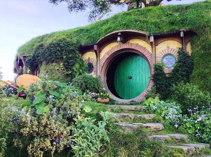 "dreaming-and-daring: """"Yo MTV, I'm Bilbo Baggins and this is my crib"" #hobbiton #theshire #nz #travel #matamata #middleearth #lotrnerd (at The Shire, Hobbiton, Middle Earth.) """