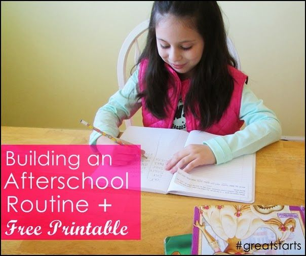 Babblings of a Mommy: Building an Afterschool Routine + Free Printable