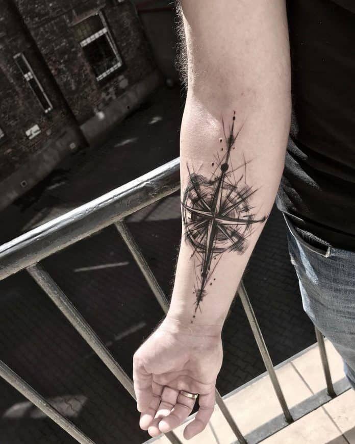 45+ Tatouage rose des vents bras inspirations