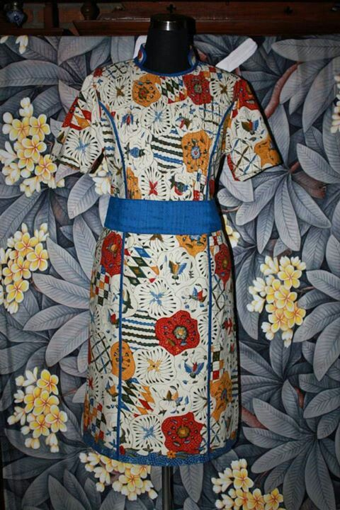 Dress batik tulis cirebon