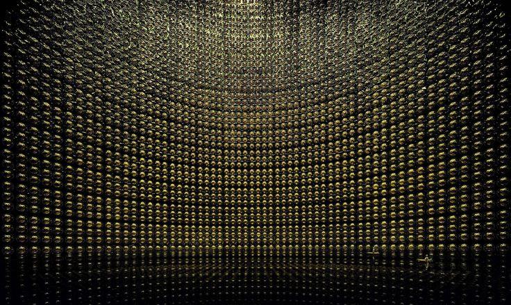 Kamiokande 2007. Accélérateur de particules géant photographié pendant une réparation.