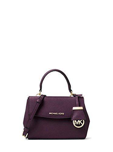 14f109c10eb3 MICHAEL Michael Kors Ava Extra Small Saffiano Leather Crossbody Bag - Damson