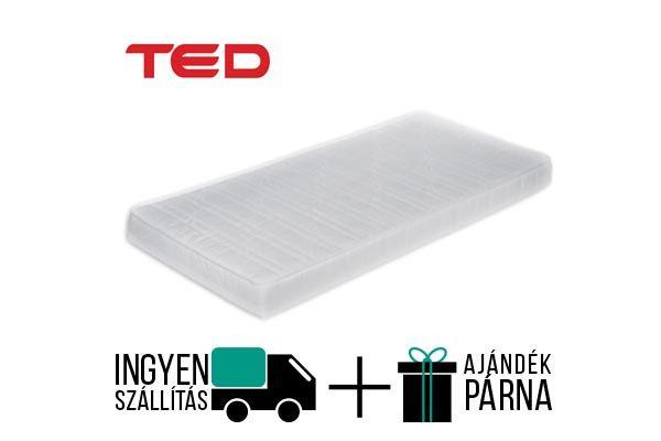 Ted Ergo vákuum csomagolt matrac egy 15 cm magas, félkemény érzetű, ortopéd alátámasztást bíztosít, antiallergén huzattal. A matrac 90kg-ig terhelhető. A gyártó 2 év garanciát vállal.  http://matracom.hu/termekek/hideghab-matracok/ted-ergo-vakuum-matrac/
